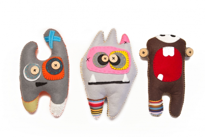 Handmade Felt Monsters