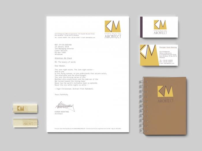 Corporate Identity and Logo Design Karen Munting Architect